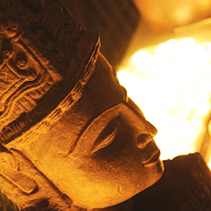 close up of buddha statue